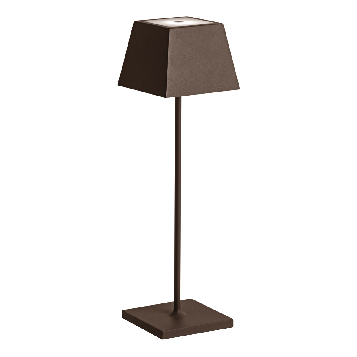 SIESTA LED table lamp corten (2700K), portable and rechargeable
