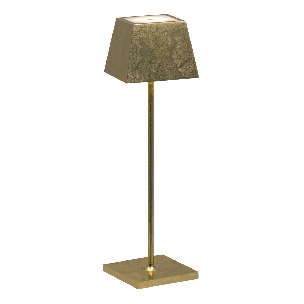 SIESTA LED table lamp gold leaf (2700K), portable and rechargeable