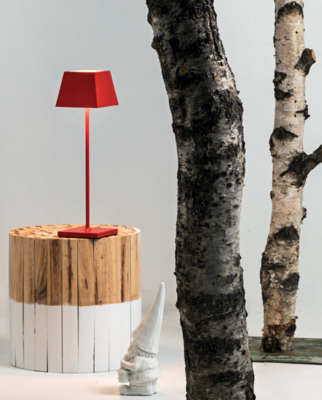 SIESTA LED table lamp red (2700K), portable and rechargeable