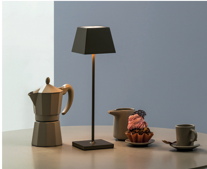 SIESTA LED table lamp tortora (2700K), portable and rechargeable