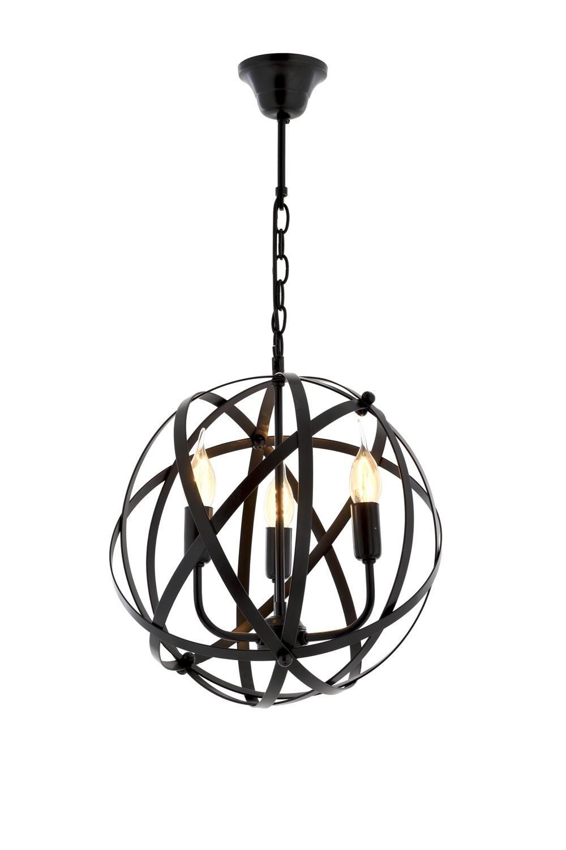 MONA pendant luminaire for 3xE14 Ø36cm black