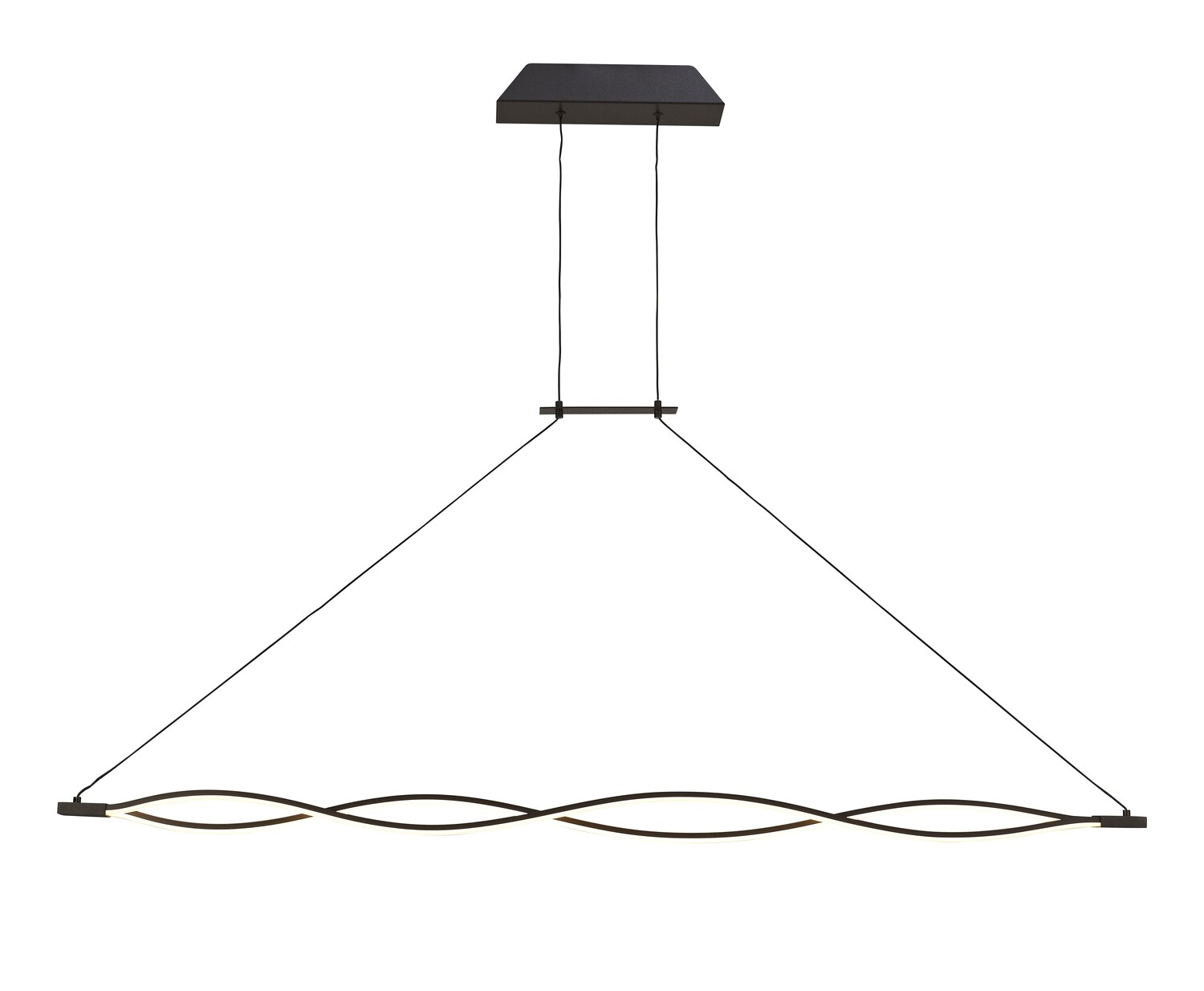 Sahara XL Linear Pendant 42W LED 2800K, 3400lm, Frosted Acrylic, Brown Oxide