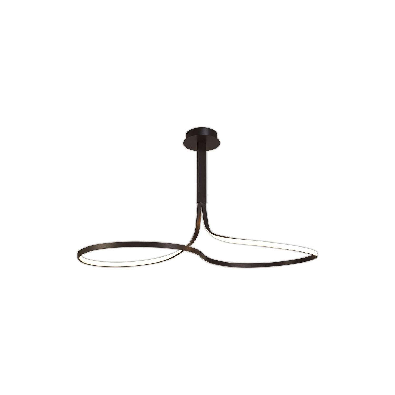 Nur Brown Oxide XL Rectangular modern chandelier 50W LED 2800K, 3900lm, DIMMABLE