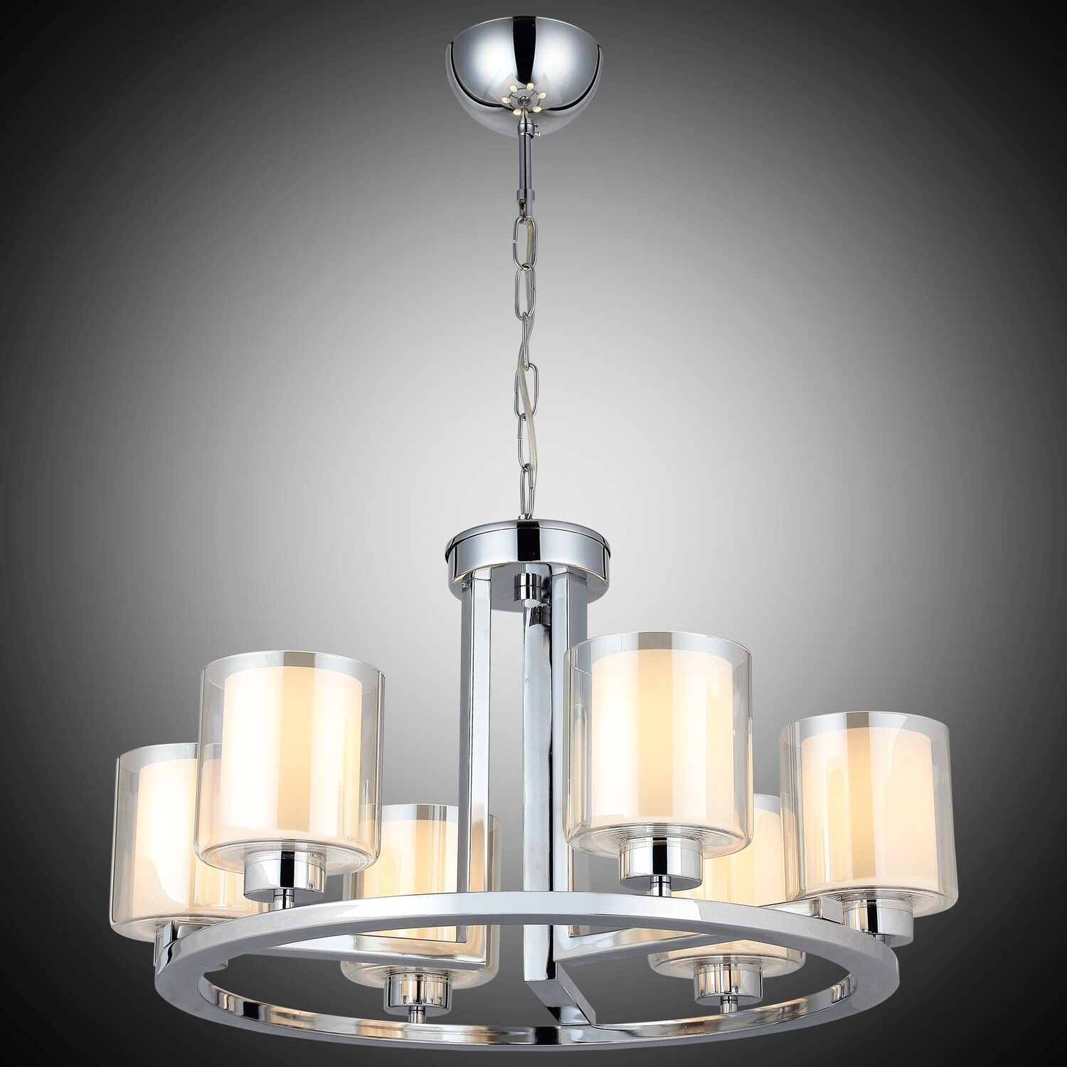 VODA 6 LIGHT CHANDELIER CHROME 6xE27