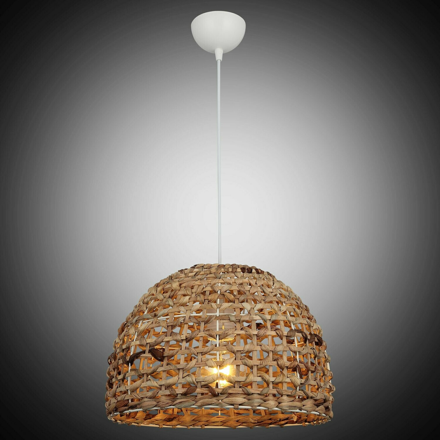 EVAN Banana leaf and wood pendant 1xE27 natural power-cord white