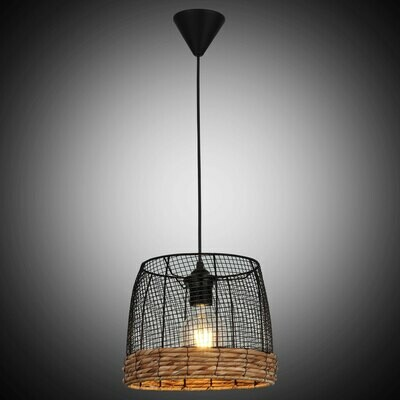 NOSSA small recycled metal / Palm Rope  luminaire 1xE27