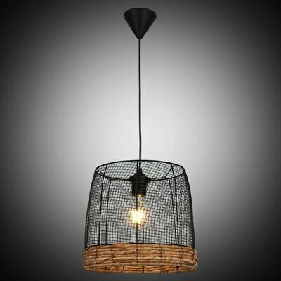 NOSSA big recycled metal / Palm Rope  luminaire 1xE27
