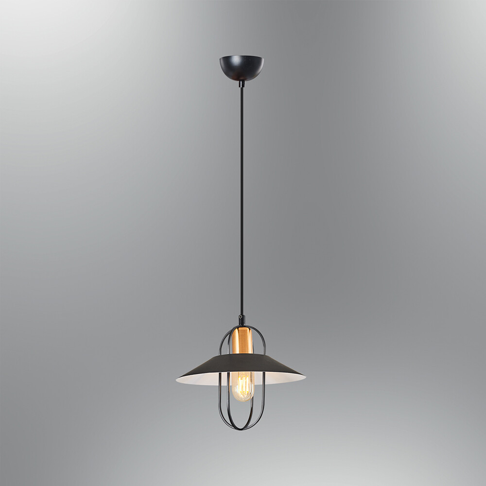 konika pendant light 1xE27 black with LED Edison Type bulb included