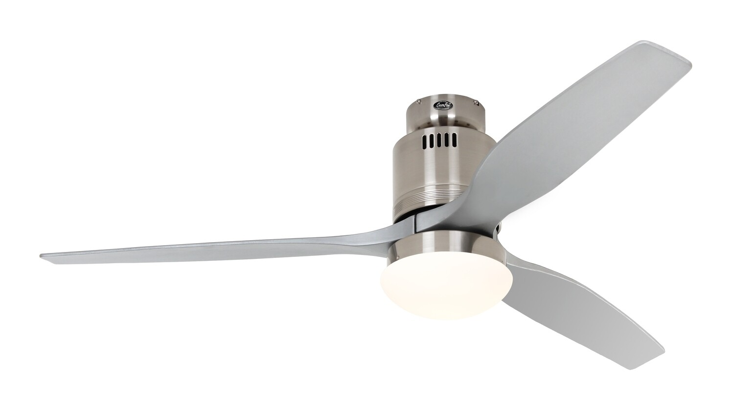 AERODYNAMIX ECO BN energy saving ceiling fan by CASAFAN Ø132  with light kit and remote control included - Brushed Chrome / Silver Grey