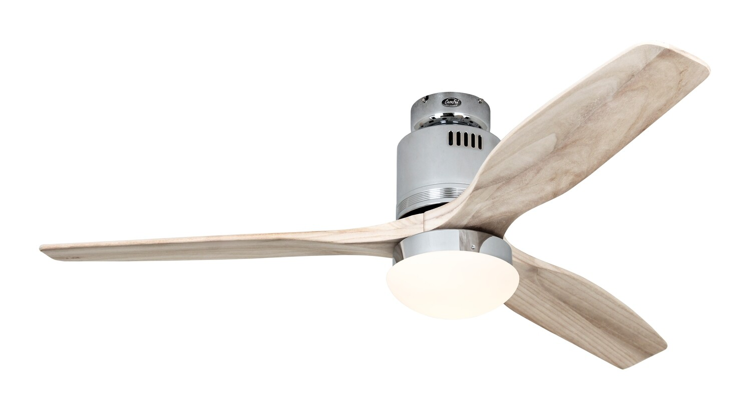 AERODYNAMIX ECO CH energy saving ceiling fan by CASAFAN Ø132 with remote control included - Polished Chrome / Natural
