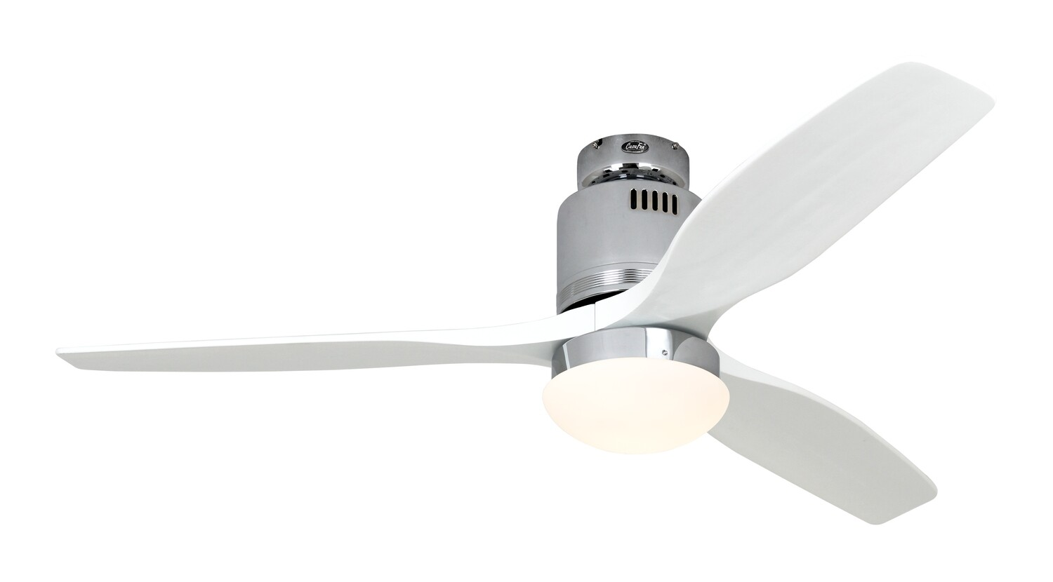 AERODYNAMIX ECO CH energy saving ceiling fan by CASAFAN Ø132  with light kit and remote control included - Polished Chrome / White