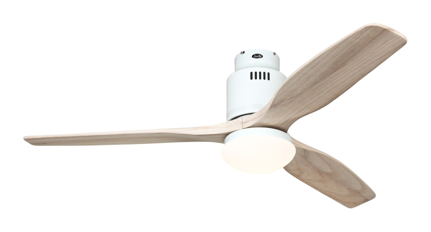 AERODYNAMIX ECO WE energy saving ceiling fan by CASAFAN Ø132  with light kit and remote control included - White / Natural