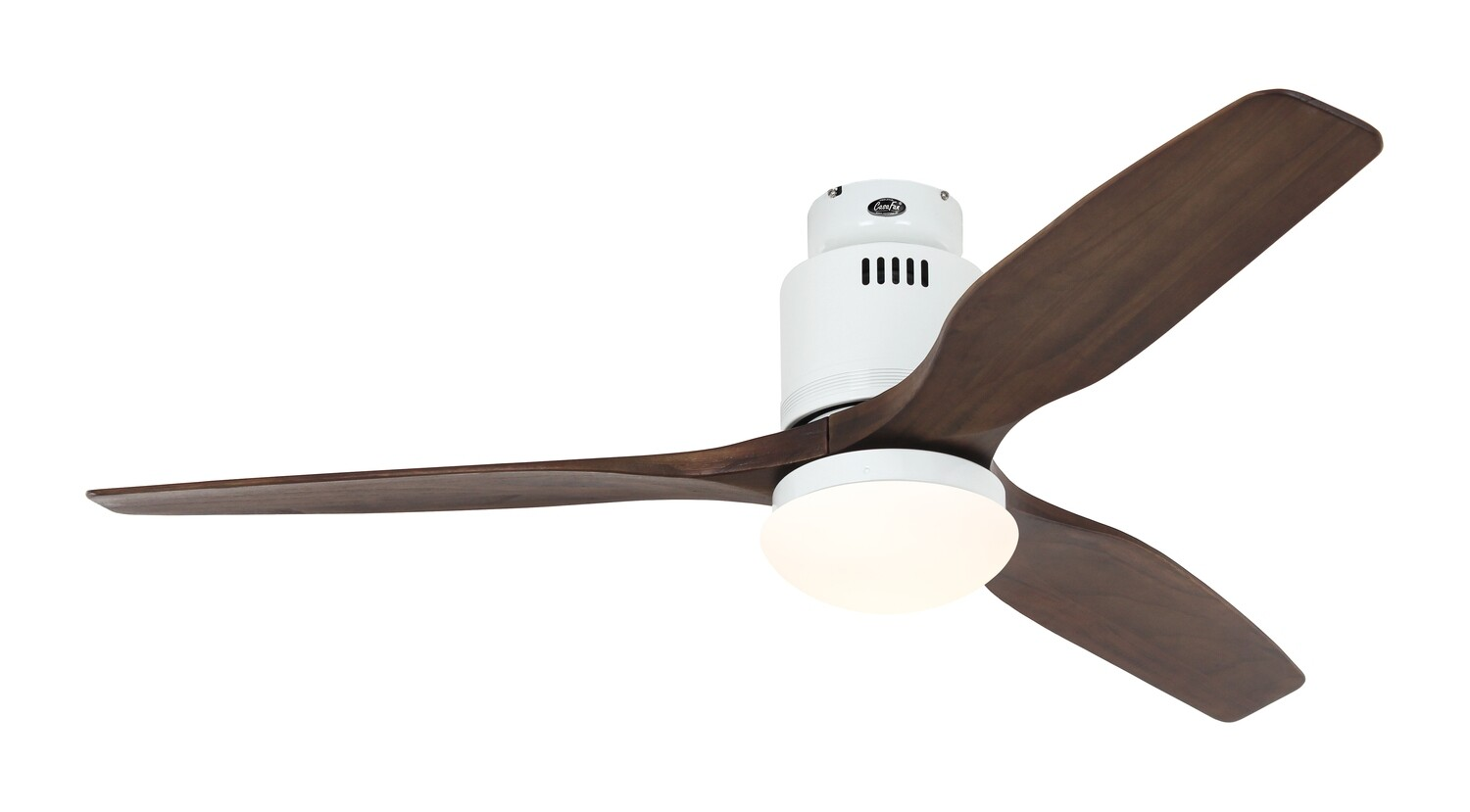 AERODYNAMIX ECO WE energy saving ceiling fan by CASAFAN Ø132  with light kit and remote control included - White /Walnut