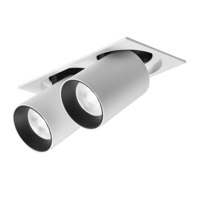 ALF Retractable Recessed Swivel Spotlight 4200K 2x12W
