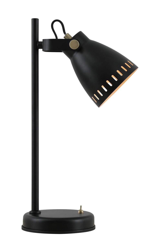 Sheena Adjustable Table Lamp, 1 x E27, Matt Black/Antique Brass/Khaki