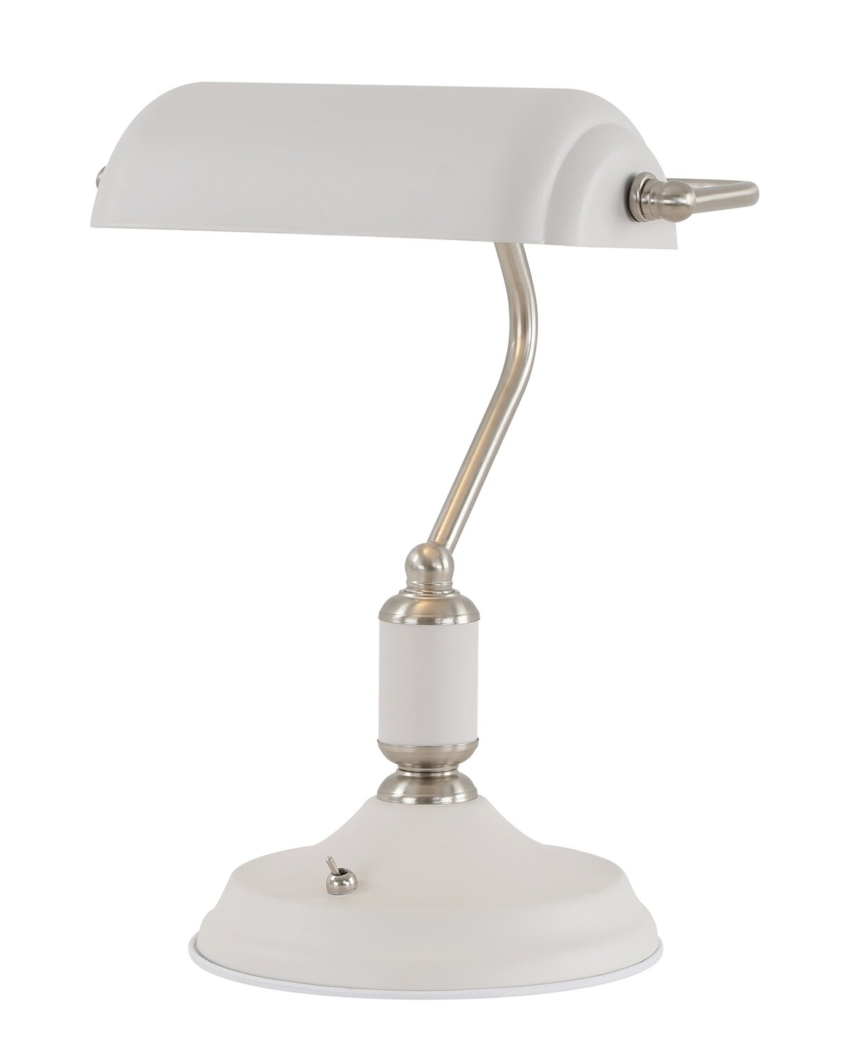 Lumina Table Lamp 1 Light With Toggle Switch, Sand White/Satin Nickel