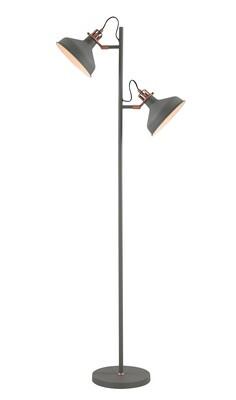 Lumina Floor Lamp, 2 x E27, Sand Grey/Copper/White