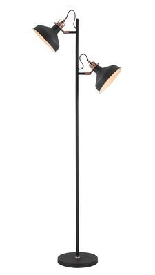 Lumina Floor Lamp, 2 x E27, Sand Back/Copper/White