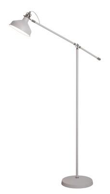 Lumina Floor Lamp, 1 x E27, Sand White/Satin Nickel/White