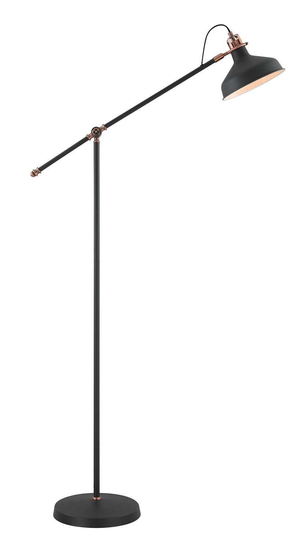 Lumina Floor Lamp, 1 x E27, Sand Black/Copper/White