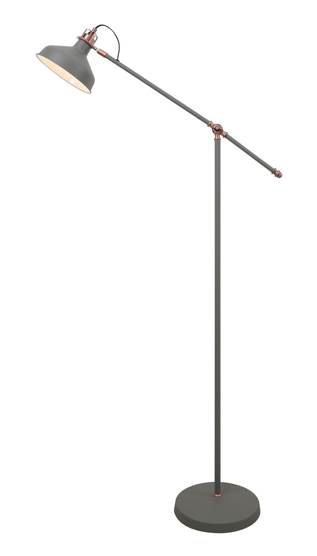 Lumina Floor Lamp, 1 x E27, Sand Grey/Copper/White