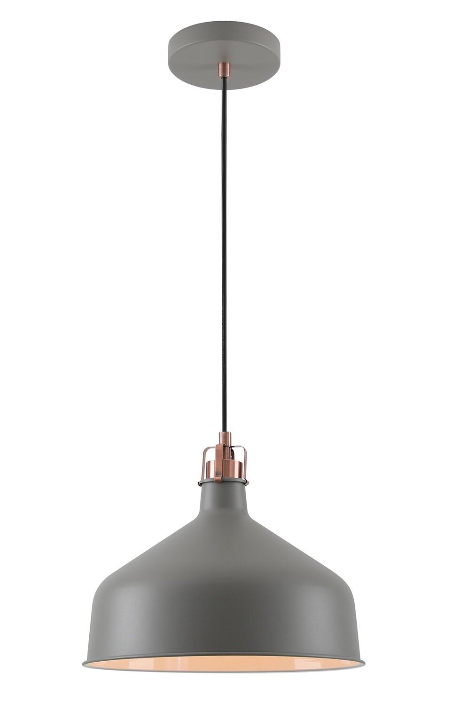 Lumina Medium Pendant, 1 x E27, Sand Grey/Copper/White