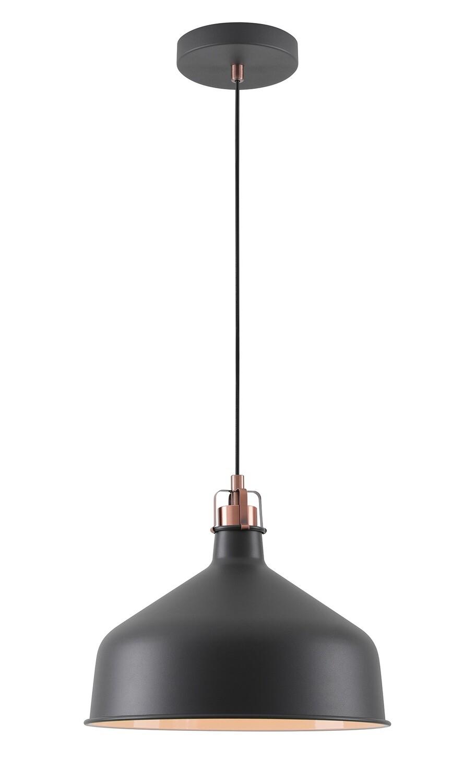 Lumina Medium Pendant, 1 x E27, Sand Black/Copper/White