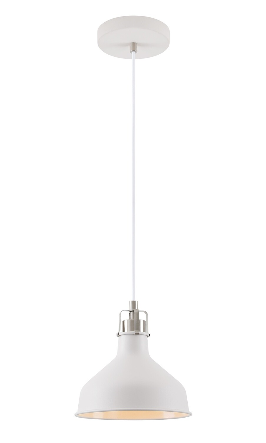 Lumina Small Pendant, 1 x E27, Sand White/Satin Nickel/White