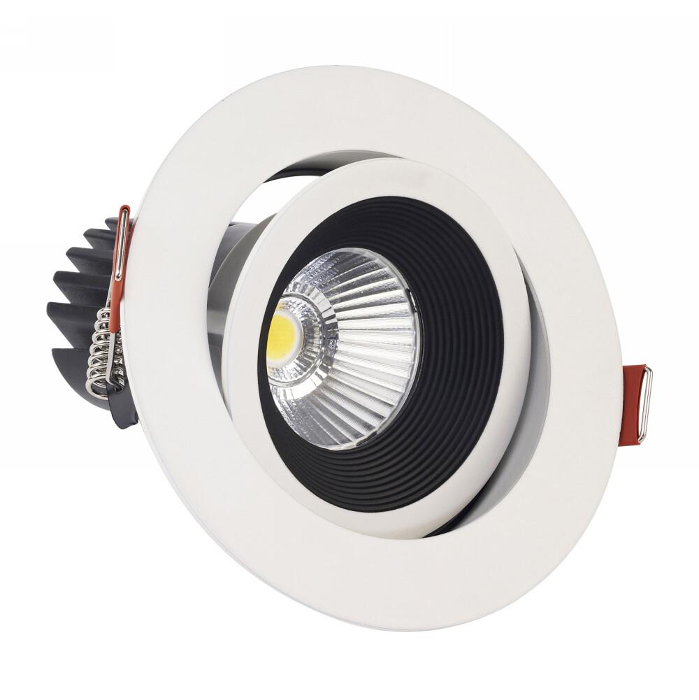 BONO LED Adjustable Spot-light 10W White/Black dimmable