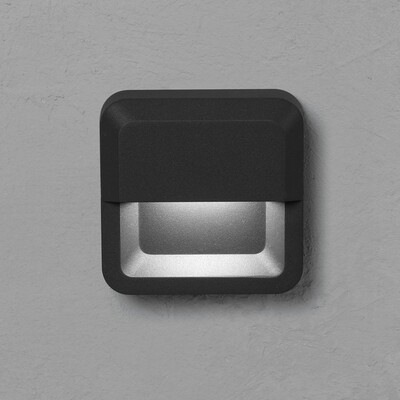 ALCOR Wall-mounted luminaire 3W 250lm traffic grey RAL7043