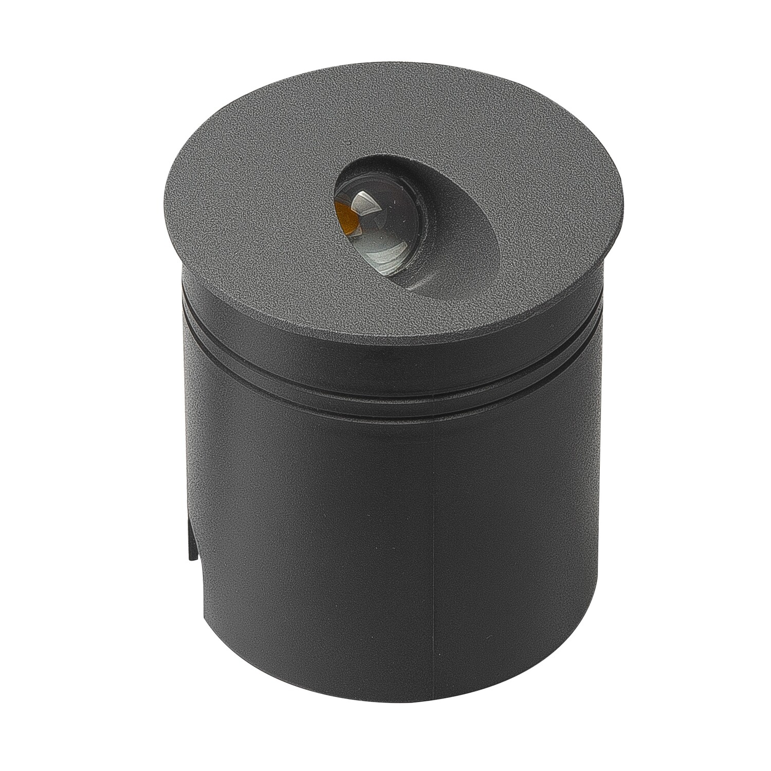 Aspen Recessed Wall Lamp Round Angle, 3W LED, 3000K, 210lm, IP65, Anthracite