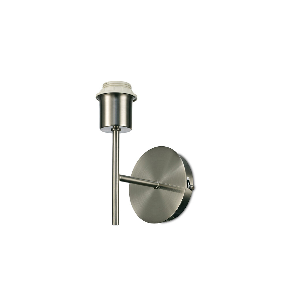 Carlton 1 Light Unswitched Wall Lamp (shade to be selected) , E27 satin nickel