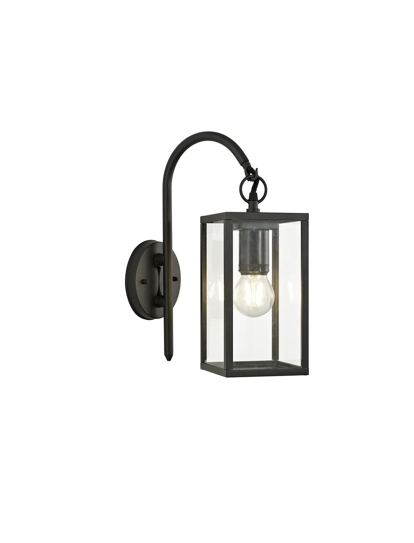 Gata Downward Wall Lamp, 1 x E27, IP54, Graphite Black