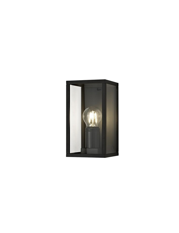 Gata Flush Wall Lamp, 1 x E27, IP54, Graphite Black