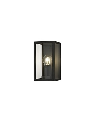 Gata Flush Wall Lamp, 1 x E27, IP54, Graphite Black