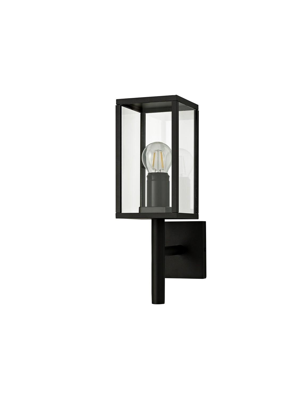Gata Upward Wall Lamp, 1 x E27, IP54, Graphite Black