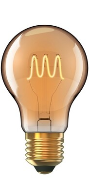 Vintage LED GLS/W E27 Non-Dimmable 230V 5W Warmwhite 1800K, 280lm, Gold Finish