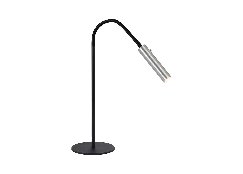 Stanie Table Lamp, 1 Light Adjustable Switched, 1 x 7W LED, 3000K, 436lm, Black/Aluminium
