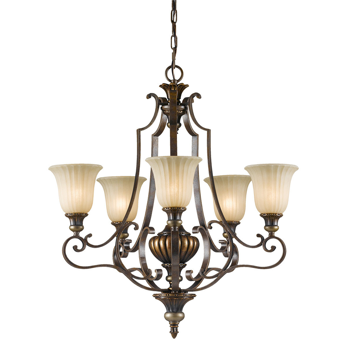 Feiss Kelham Hall 5 Light Up Light Chandelier