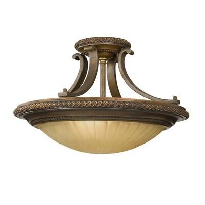 Feiss Kelham Hall 2 Light Semi-Flush Light
