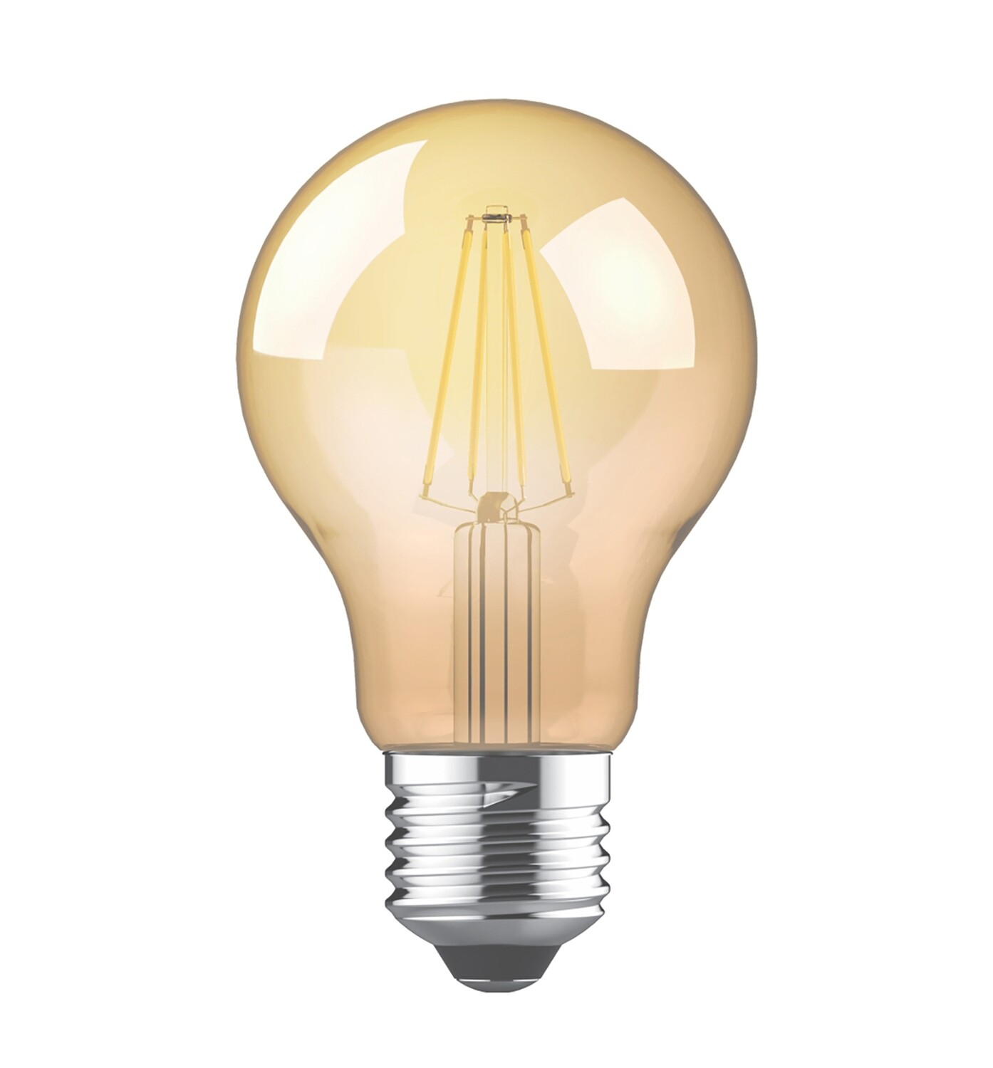 Value Vintage LED GLS E27 230V 4W 2200K, 330lm, Amber Finish