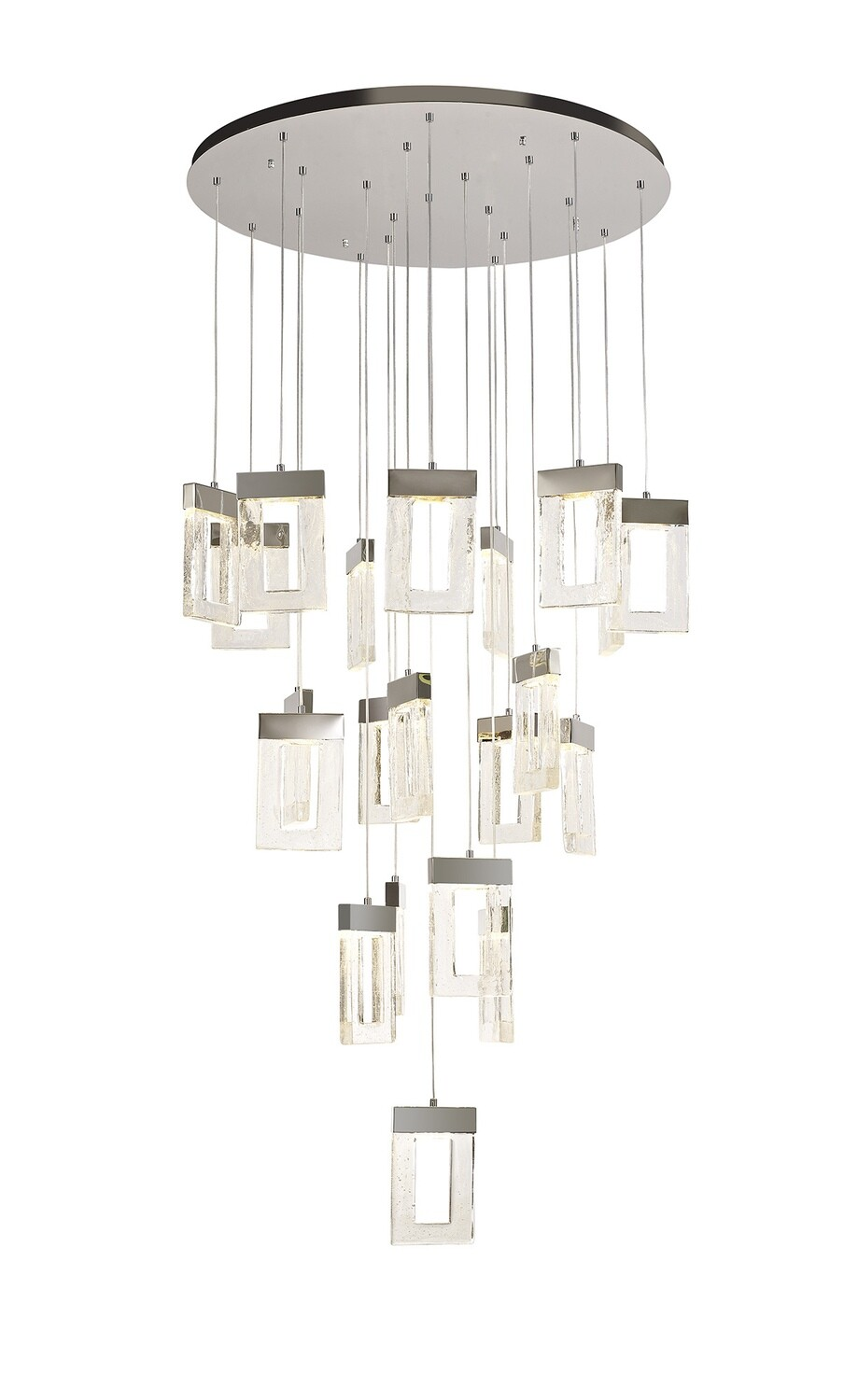 Etoile Pendant 5M, 21 x 4.5W LED, 3000K, 3360lm, Polished Chrome