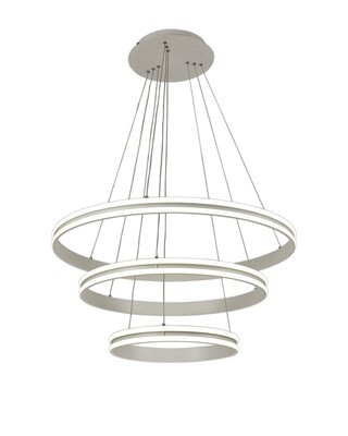 Proteus Pendant, 3 Light 50W,30W,20W LED, 4000K, 5470lm, Dimmable, Matt White