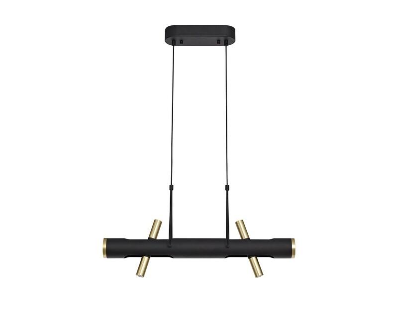 Arpit Pendant, 4 x 2W LED, 3000K, 1120lm, Sand  Black/Gold