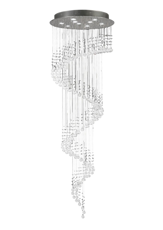 Colorado Pendant Multi-Spiral 9 Light Polished Chrome/Crystal