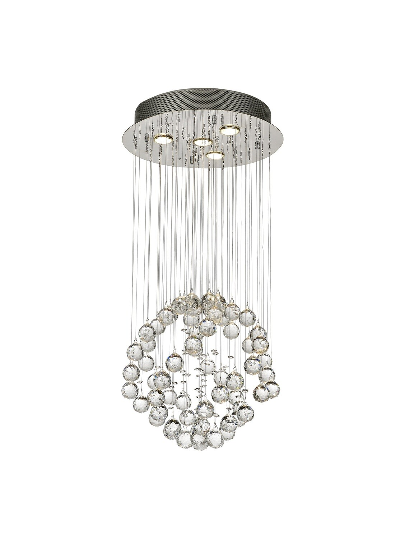 Colorado Pendant Small Sphere 4 Light GU10 Polished Chrome/Crystal