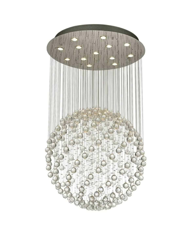 Colorado Pendant Large Sphere 13 Light GU10 Polished Chrome/Crystal
