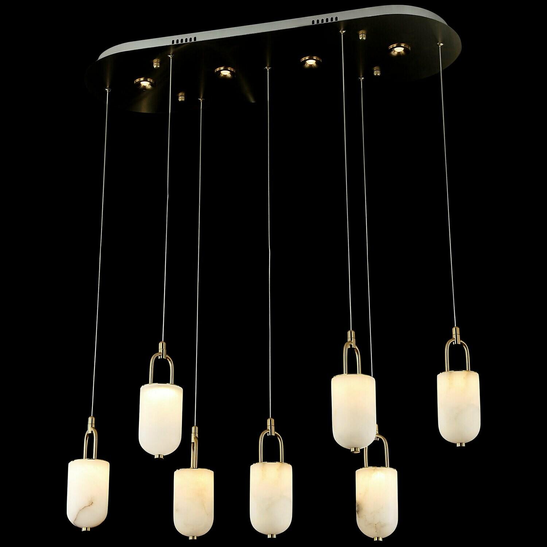 LOVCEN 7 LIGHT LED LONG CHANDELIER 7x5W + 4x3W