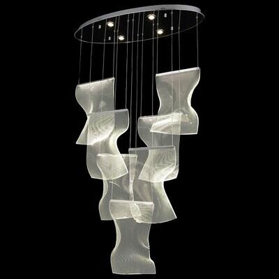 DIAMENTE 7 LIGHT LED LONG PENDANT LAMP 3000K 70W