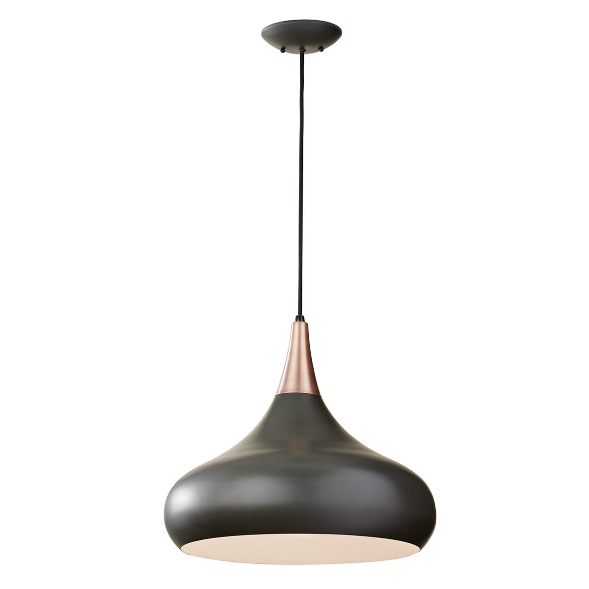 Feiss Beso 1 Light Large Pendant – Dark Bronze